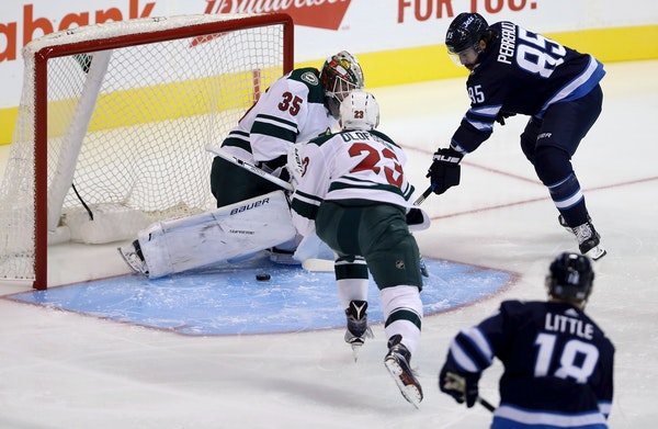 Wild goaltender Niklas Svedberg stopped 22 of 24 shots over two periods in Minnesota's 3-2 shootout victory at Winnipeg in the preseason opener Monday