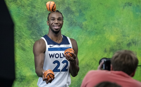 Andrew Wiggins, posing for photographer Tim Gruber during media day Friday, plans on signing his 148 million deal soon.