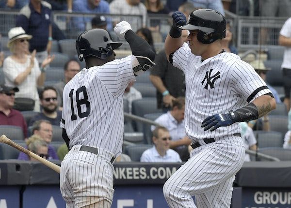 Gary Sanchez and Didi Gregarious both homered for New York on Wednesday.