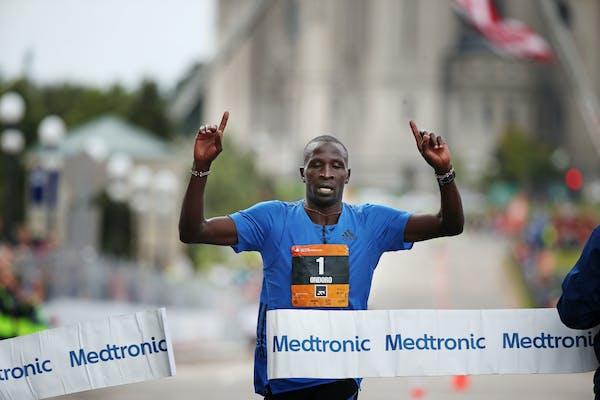 Dominic Ondoro won the Twins Cities Marathon on Sunday, October 1,2017 in St. Paul