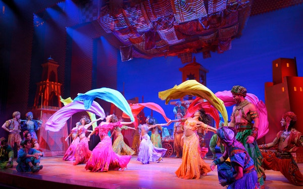 """The stage version of """"Disney's Aladdin"""" is a colorful spectacle."""
