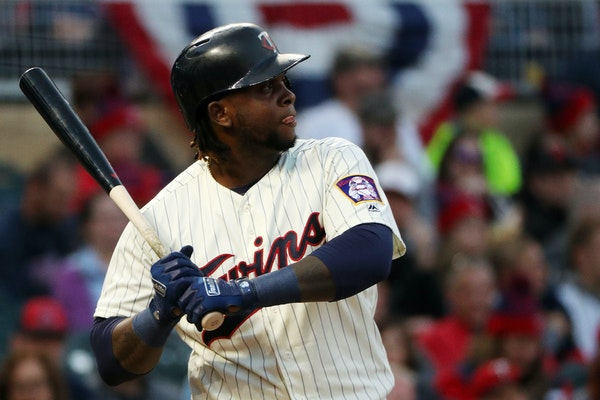Miguel Sano started as the designated hitter Saturday night, his second game back from his stint on the disabled list, and singled in his first at-bat