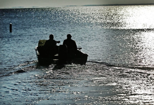 Muskie fisherman leave a public boat launch near Grand Casino Mille Lacs Thursday, July 30, 2015, on Lake Mille Lacs.