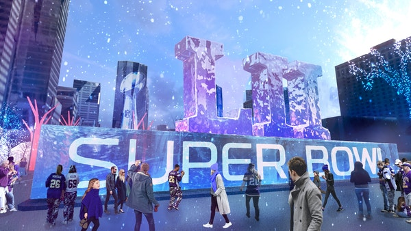 Nicollet Mall Super Bowl Live renderings provided by Super Bowl committee.