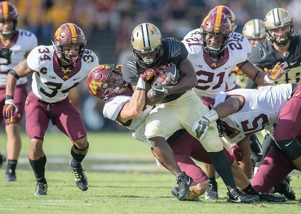 Purdue had seven runs of six yards or more against the Gophers in the second half of a 31-7 victory Oct. 7.