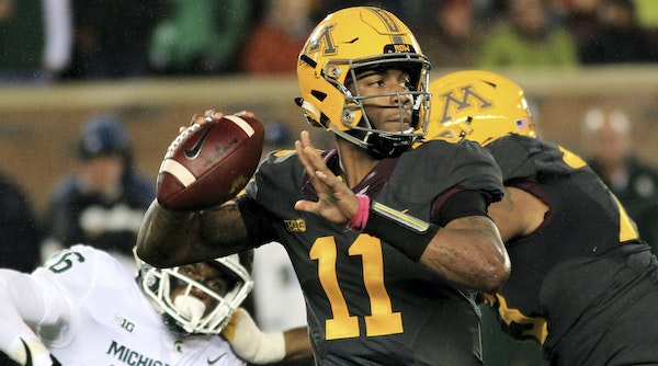 Putting a suspension behind him, Gophers QB Demry Croft asserted himself with a strong performance last week against Michigan State, throwing for thre