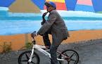 Abdi Rahim Abdi of Minneapolis showed off his Mongoose bike Sept. 13 in Minneapolis.