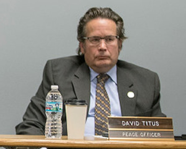 St. Paul Police Federation President Dave Titus, at the center of the building controversy in the mayor's race, has held his post for nearly two decad