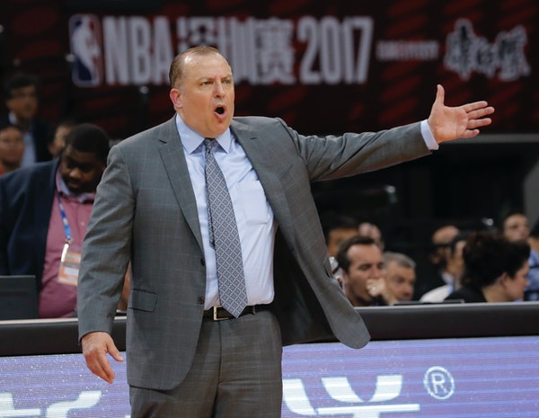 Former Chicago coach Tom Thibodeau, in his second season with the Wolves, has brought by trade or free-agent signings Jimmy Butler, Taj Gibson, Aaron