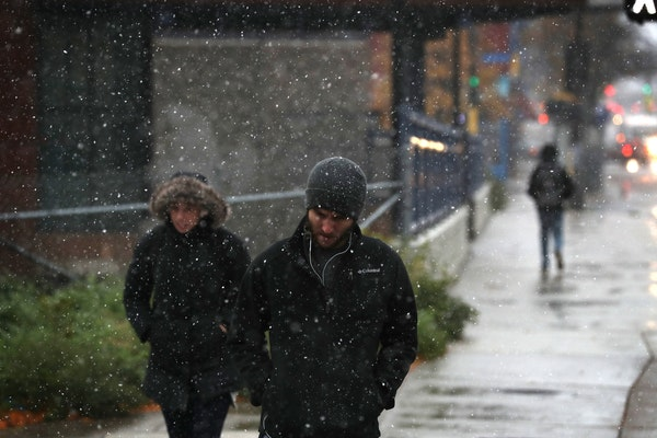 Morning forecast: Rain and snow mix, high of 38