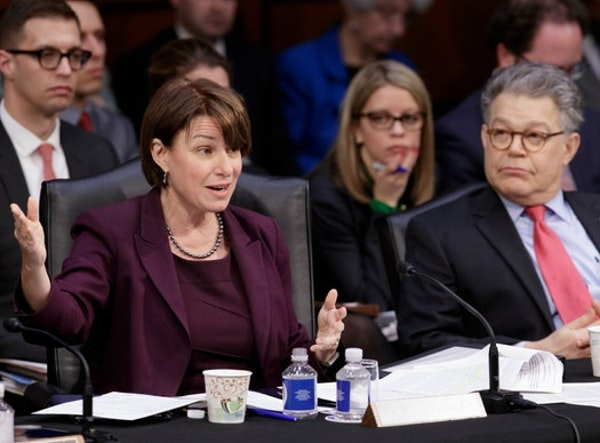 U.S. Sens. Amy Klobuchar and Al Franken called on President Donald Trump to allow the government to negotiate lower prices for an opioid overdose reve