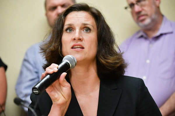 """Minnesota DHS Commissioner Emily Piper, shown in July, called the federal government's approach to the states """"incredibly frustrating."""""""