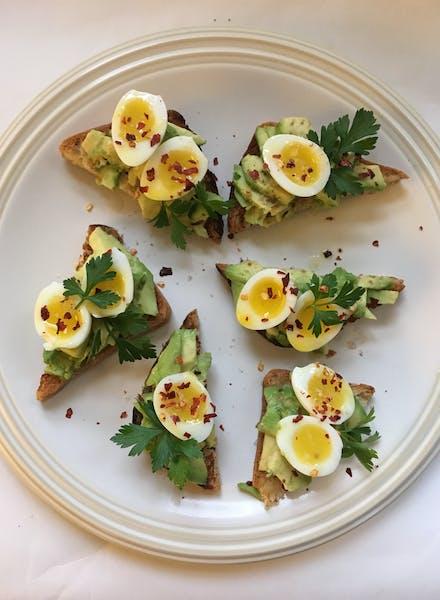 Mini Avocado Toasts. Photo by Amelia Rayno
