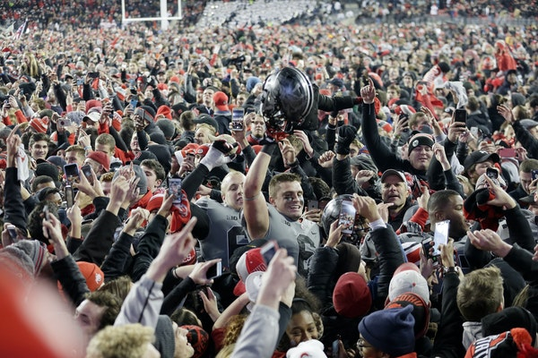 Ohio State: Randy Johnson's new No. 1 in his Big Ten power rankings — and deservedly so, after the Buckeyes' big comeback victory over Penn Stat