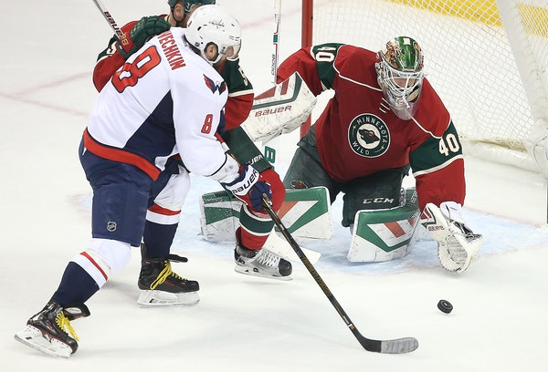 The Capitals' Alex Ovechkin, who has 10 goals in 10 career games against Minnesota, has gone a franchise-long 10 consecutive games without a goal and