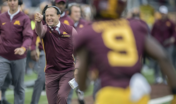 """Gophers coach P. J. Fleck praised Iowa's program Tuesday for its consistent success. """"You can always count on Iowa being in the mix,"""" he said."""