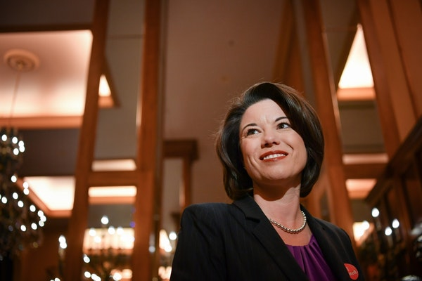 Democrat Angie Craig, shown in 2016, when she lost one of the closest congressional races in the country to Republican Rep. Jason Lewis.
