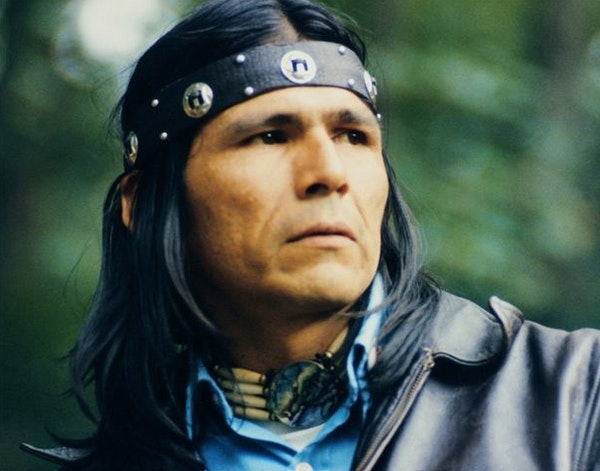Dennis Banks, leader and co-founder of the American Indian Movement.