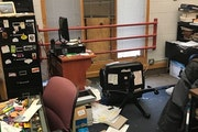 Vandals broke into the Nawayee Center School in south Minneapolis over the Thanksgiving break, destroying art work, trashing offices and stealing two