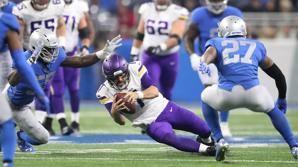 """Coach Mike Zimmer praised Case Keenum: """"He made some big plays not only with his feet but with some of the throws he made.''"""