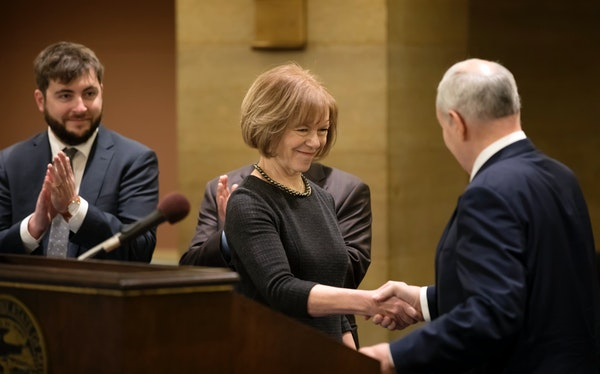 DFL Gov. Mark Dayton on Wednesday appointed Lt. Gov. Tina Smith to the U.S. Senate, where she will replace Sen. Al Franken.