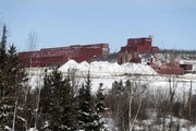 The closed LTV Steel taconite plant sits idle near Hoyt Lakes, Minn. The site, which closed in 2001, may return to life as part of Minnesota's first c