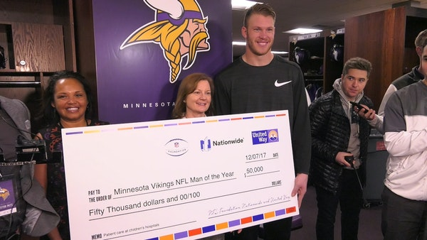 Rudolph named Vikings Man of the Year nominee