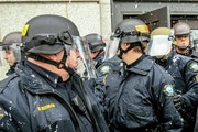 The last time Duluth police officers donned riot gear was in 2012 when a group of white supremacists and counterprotesters clashed downtown.