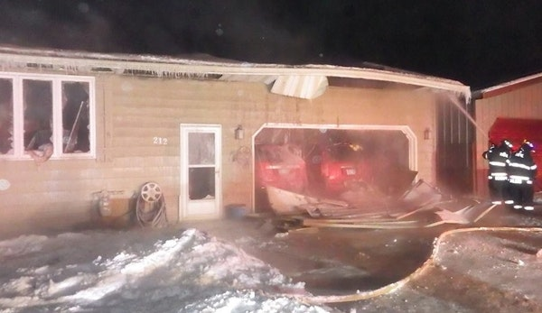 Firefighters battled this fatal house fire in Hibbing.