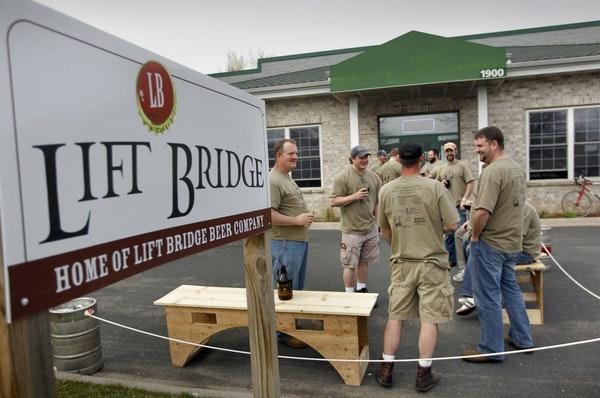 Members of the Beer-a-Palooza group enjoy a Saturday afternoon at the Lift Bridge Brewery in Stillwater, in this file photo from April 14, 2011.