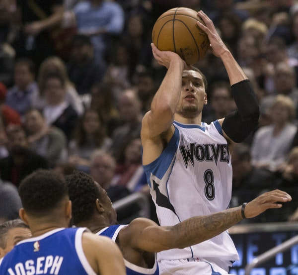 Zach LaVine is 45-for-97 on three-pointers this month, making an average of 3.5 threes per game.