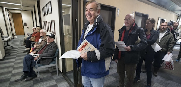 Joe Antonucci waited in line to prepay his 2018 property tax in December 2017.