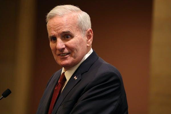 Gov. Mark Dayton spoke during a recent budget forecast.