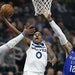 Jeff Teague put up a shot against the Thunder's Steven Adams on Wednesday. Teague scored eight points and had four rebounds and three assists in his
