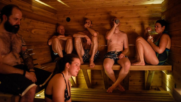 Below zero? Sweat it out in this mobile sauna