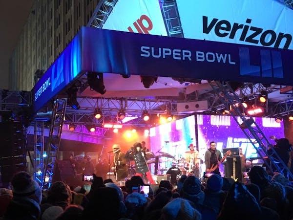 NPG, Dessa, Mint Condition weather another electric Super Bowl Live show