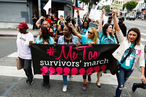 Survivors of sexual assault, along with their supporters, marched in November in Los Angeles. However, a split seems to have developed between feminis