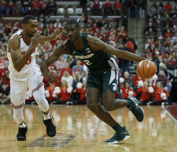Michigan State's Jaren Jackson Jr., right, is considered the best pro prospect in the Big Ten.