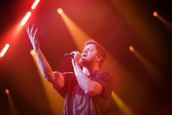 Dan Reynolds of Imagine Dragons performed Thursday night at the new Minneapolis Armory in the biggest of Super Bowl-related shows around the Twin Citi