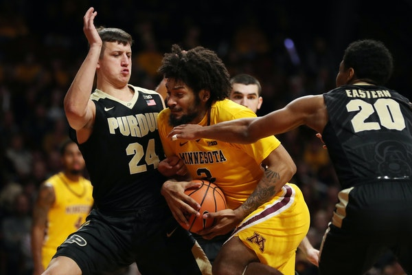 Gophers junior Jordan Murphy is a few inches shorter than most Big Ten centers, but he is powerful enough to hold his own physically.