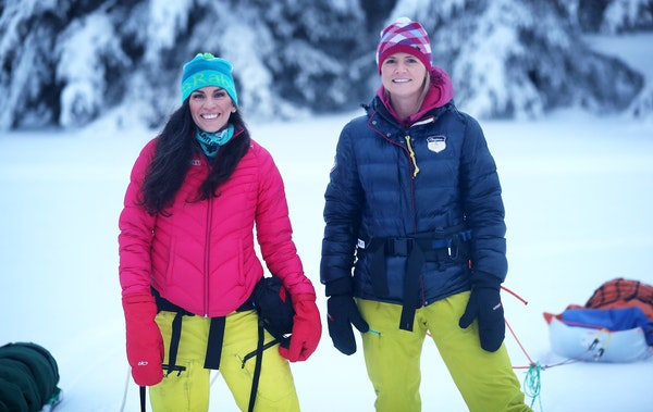 Kate Coward, right, and Kari Gibbons struck up a friendship during their ultra events over the years.