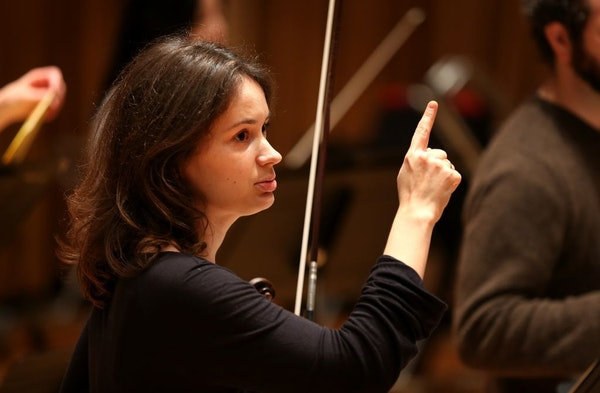 """The St. Paul Chamber Orchestra and its artistic partner Patricia Kopatchinskaja, above, won a Grammy Sunday for their """"Death and the Maiden"""" project."""
