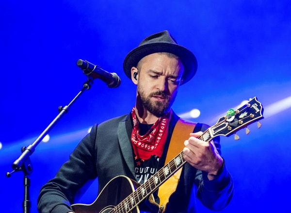 Justin Timberlake, shown here at a recent show in Tennesse.