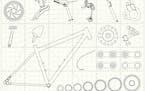 Winter mindset: Bikes -- and bike parts.