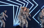 Jennifer Lopez performs at the Directv Super Saturday Night at The Armory on Saturday, Feb. 3, 2018, in Minneapolis.