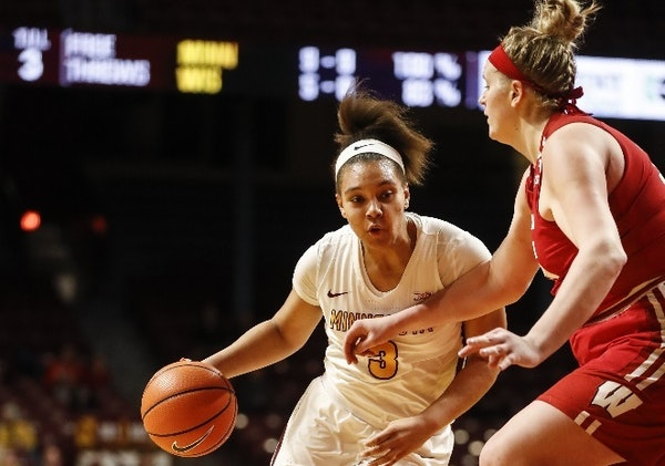 The Gophers' Destiny Pitts was named Big Ten freshman of the week in women's basketball on Monday, the sixth time this season she has earned the h