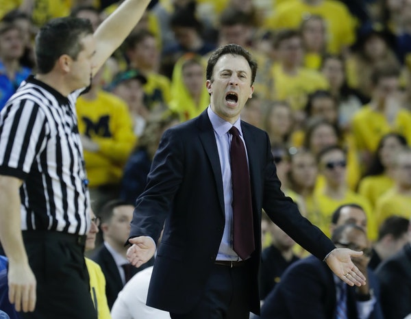 """Gophers coach Richard Pitino said of this year's struggles: """"I've never seen a team get hit with this many things in the middle of the season."""""""