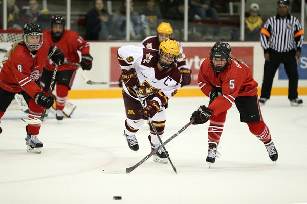 Sydney Baldwin is one of the Gophers team leaders. (Star Tribune file photo by ANTHONY SOUFFLE)