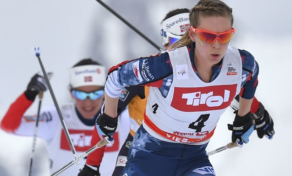 Afton's Jessie Diggins and her teammates are determined to earn the U.S.'s first Olympic women's cross-country skiing medal.
