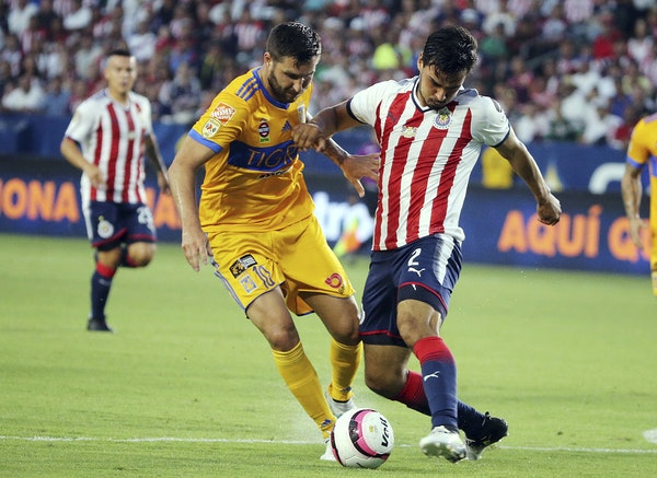 Tigres UANL forward Andre-Pierre Gignac, left, makes him Mexican team the co-favorite to win the CONCACAF Champions League tournament along with Toron